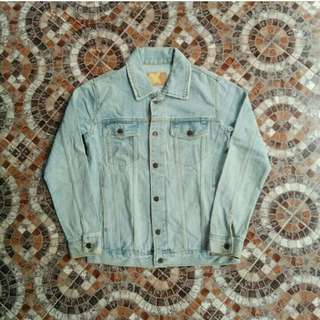 Trucker Jaket Jeans Denim Vincent Import #maupulsa