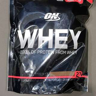 LATEST PRODUCT FROM OPTIMUM NUTRITION - ON WHEY 100% OF PROTEIN POWDER FROM WHEY - AUTHENTICATION DISPLAYED ON THE PACKET (CHOCOLATE OR VANILLA)