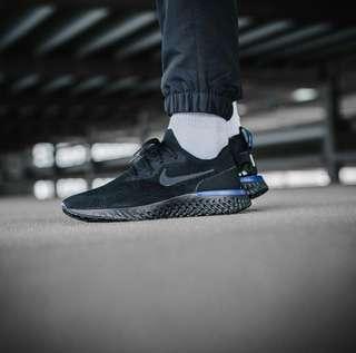 (PO) Exclusive Nike Epic React Triple Black