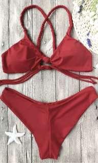 Red bikini size small
