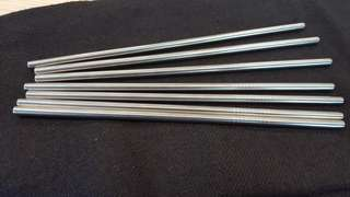 Stainless Steel Metal Straw & Brush & Pouch!