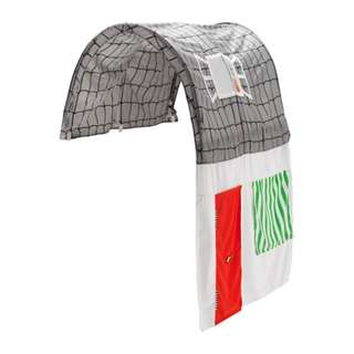 [IKEA] KURA Bed tent with curtain, grey, white