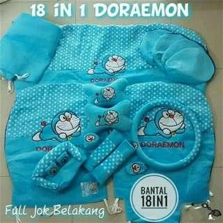 Bantalan 18 in 1 Honda brio Doraemon biru