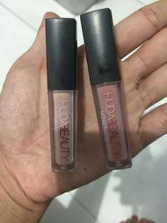 Huda Beauty liquid matte nude lipstick