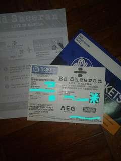 ED SHEERAN 1 GOLD TICKET DIVIDE TOUR 2018