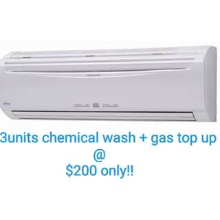 Aircon chemical wash package