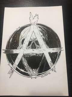 Punk Art work drawing