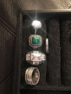***PRICE DROP*** Silver rings set