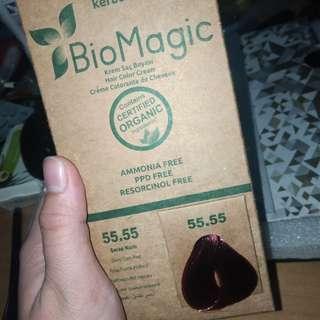 Bio Magic ogranic hair dye in deep dark red