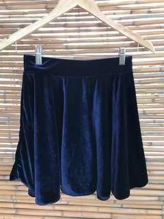 Item 016: velvet blue skater skirt