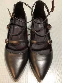 Women's Block Heels Pointed Shoes