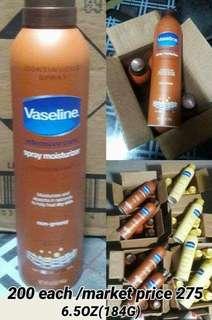 vaseline spray moisturizer