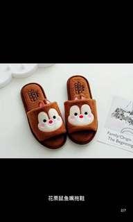 迪士尼家居階滑拖鞋Chip n Dale 米奇唐老鴨。。。