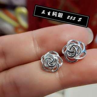 🚚 正生-玫瑰耳環