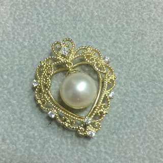 純銀鍍金天然珍珠吊墜