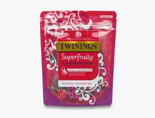 Twinings SUPERFRUITY FLAVOUR INFUSION - 12 PYRAMID BAGS 川寧果茶12茶包裝