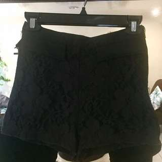 Forever 21 High-waisted lace shorts
