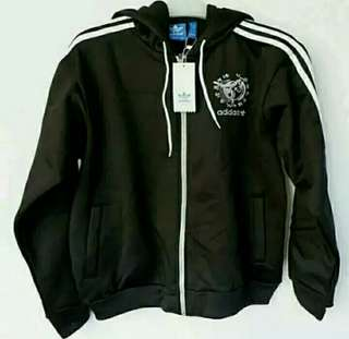 Jaket adidas kareem abdul jabbar black white original