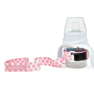 BooginHead SippiGrip Sippy Cup Strap - Delicate Dot Pink