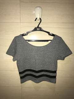 H&M divided ; fitted crop top