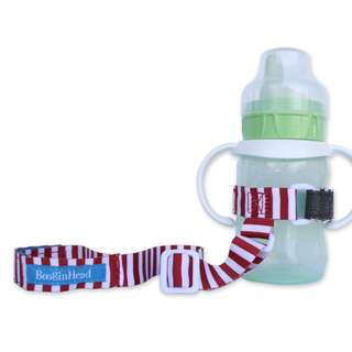 BooginHead SippiGrip Sippy Cup Strap - Nautical Red
