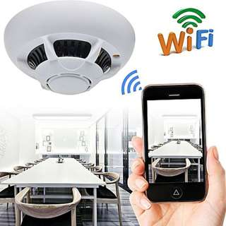 🚚 WIFI 1080P HD SPY DVR Hidden IP Camera Smoke Detector Motion Detection For Home Office