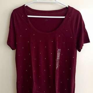 Burgundy Tommy Hilfiger T-Shirt