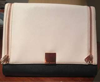 Cream & gold Ted Baker clutch