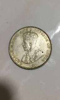 Straits settlements 1921 50 cents
