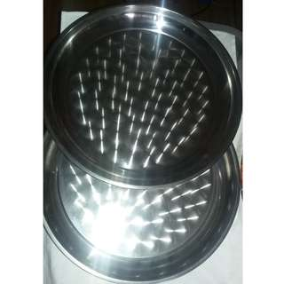 """Two 16"""" high quality stainless steel bowls"""