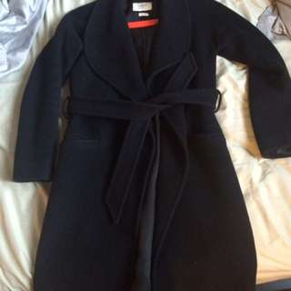 Aritzia Wilfred black wool coat XS