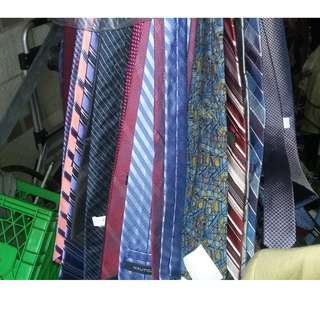 Brand name rack of 40 men's business ties. Wide width style.