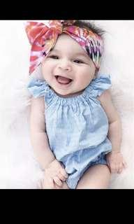 Ruffles Flying Sleeve Summer Baby Girl Romper