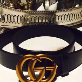 Gucci Gg marmont belt with box