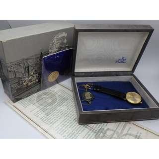 60`s 年代 ~ 勞力士 Rolex Cellini Ref.3757 男裝 上鍊 18K 金 皮帶錶 (附証書+盒)
