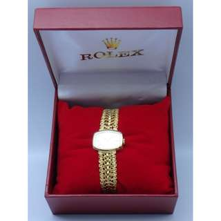 Rolex precision 18k Solid Yellow Gold Hand-Wing lady watch w/Box