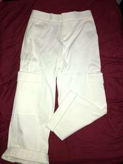 Club Monaco culotte-style cargo pants