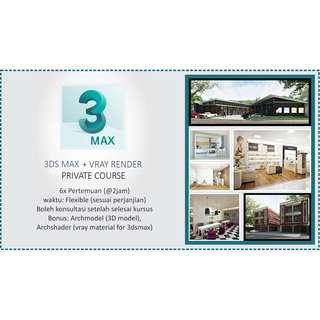 terima kursus ( 3Ds Max + Vray Render Private Course)