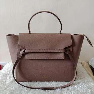 Authentic Celine Belt Micro Luggage Dark Dune Crossbody Bag