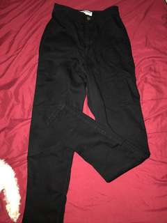 American apparel black easy jeans