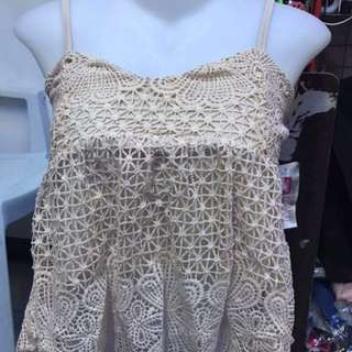 Combined laces croptop