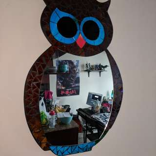 Mosaic Owl Mirror