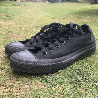 Converse Black Monochrome Low Cut Chuck Taylors