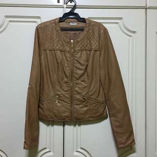 Pimkie Tan Leather Jacket (from France)