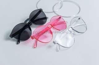 kacamata transparant candy pastel