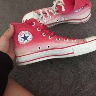 Pink Ombré Converse