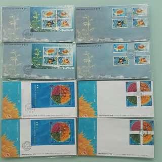 1993年香港金魚及1994年香港珊瑚系列首日封1993 HK Goldfish & 1994 HK Corals official covers series