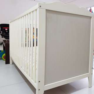 IKEA baby cot with toddler bed conversion (60cm by 120cm)