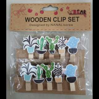 Mini Wooden Clips #20 Cactus (10pcs)
