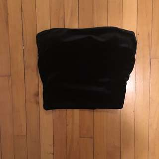 M Boutique Velvet Tube Top